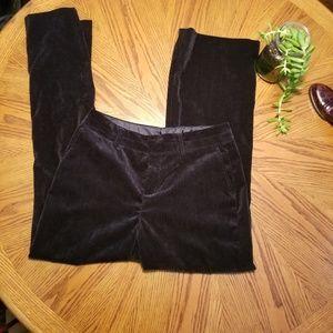 Coldwater Creek Black Velvet Trouser Pants